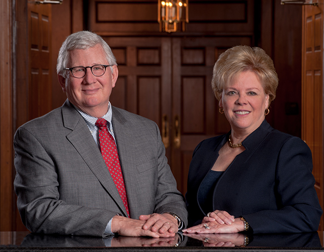 Environmental Portait - Jack Barbour and Rhea Law, CEOs in merging law firms